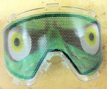 Goggle screen cover as shown on a Spectra lens.