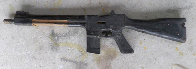 The PSI M-16 rifle right side shot.