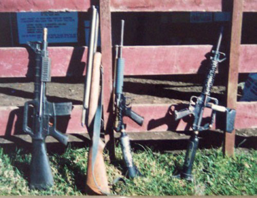 A photo from Grant at Dave Pellet's field.  Left to right: PSI M16, PSI bulk air converted K1, PSI 1200/Hornet, and a PSI Commando/M-16 Stinger
