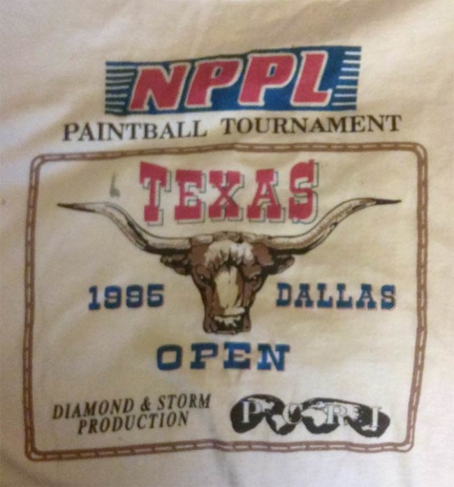 Dallas Texas Open 1995 NPPL shirt.