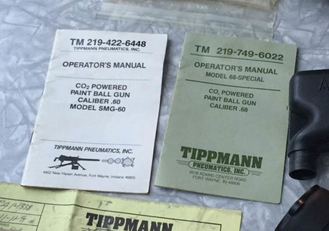 SMG 60 and 68 special Tippmann manuals.
