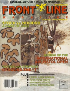 Buzick on the cover of the 1987 issue of Front Line.