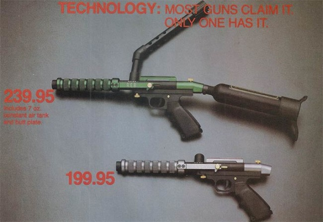 Middle portion of the Rebline ad showing two of Buzick's CAS pumps.