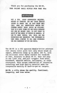 Page 1 of the BE-90 manual.