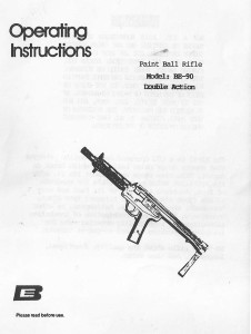 Front cover of the BE-90 manual.