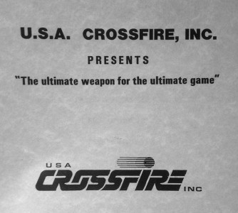 Investor packet on the U.S.A. Crossfire, Inc. Equalizer. Likely C. 1987?