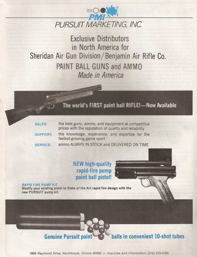 PMI advertisement scanned from the April 1986 issue of Front Line.