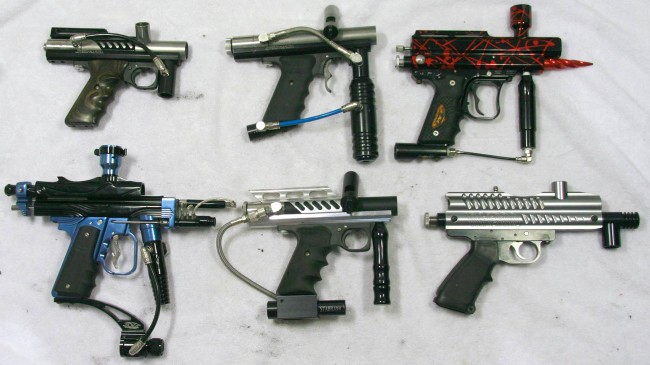 Right side of the paintguns added to inventory in February.