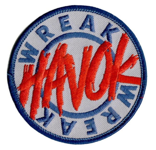 Wreck Havok patch that Joe Comstock designed for Team Havok.