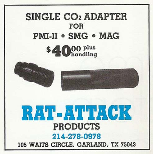 Ad for the Rat Attack Changer from the July 1987 issue of Front Line Magazine.
