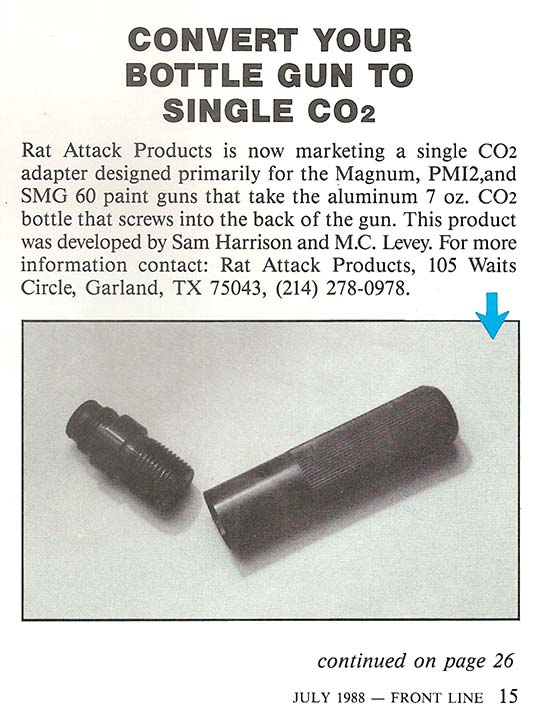 New product write up from 7-87 Front Line Magazine on the Rat Attack.