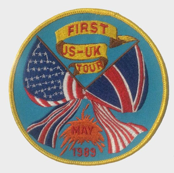 The First US-UK Tour-May 1989 Patch. Courtesy the collection of Michael Karmen.
