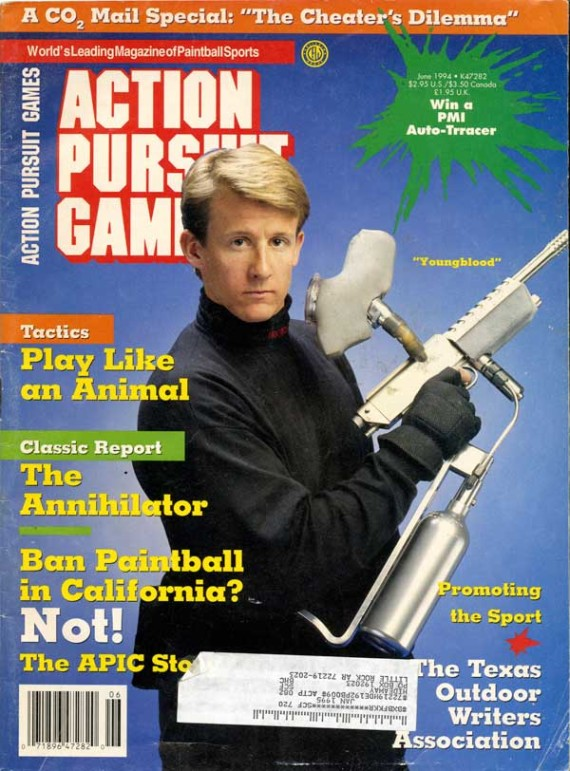 Youngblood on the cover of the June 1994 Action Pursuit Games.