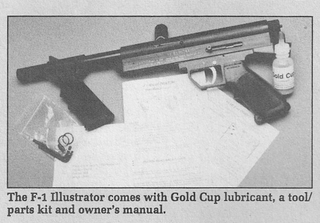 The F-1 Illustrator crop from the July 1992 issue of Paintball Magazine