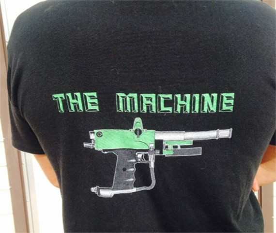 Back of the Machine T shirt.