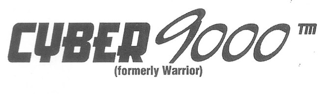 The printed logo for the Cyber 9000, scanned from the 1997 NPPL World Cup Program.