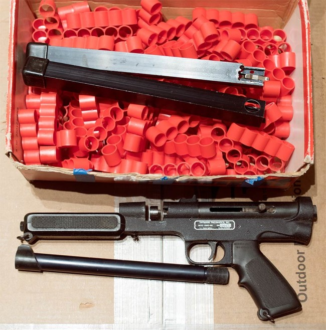SMG 68 serial 667 with clips and magazines.