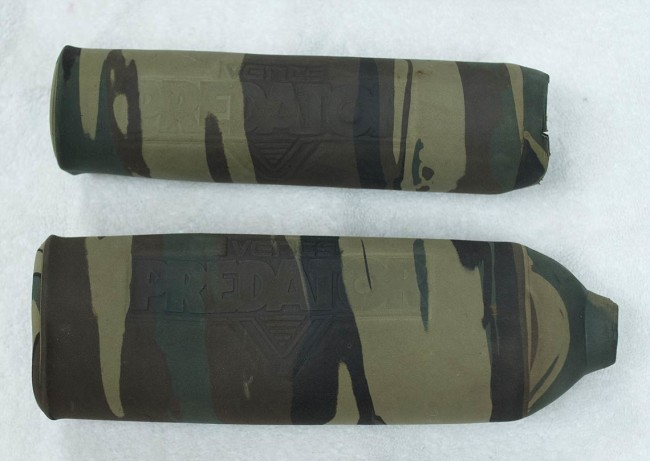 Thick and tough neoprene Vents tank covers.