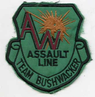 Bushwackers patch, sponsored by Assault Line.