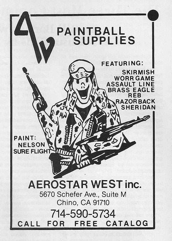 Aerostar West  advertisement, scanned form the May 1990 issue of Paintcheck.