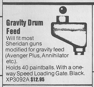 May 1988 APG ad for Gravity Drum Feed before Ammo Box 1 was released.