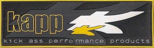 Kapp plastic badge patch.  Find these on baccipaintball
