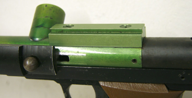 Left side view of sight rail on Line SI Skirmish.
