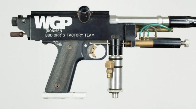 Zoom in on right side of WGP Decal and serial of #6212 Autococker.