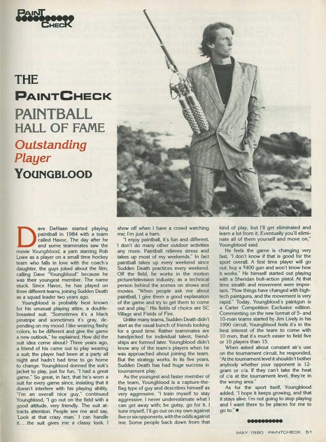 Paintcheck May 1990 Hall of Fame article on Dave Youngblood DeHaan.
