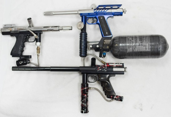 The Top right blue Automag is listed on the site with the October 2015 inventory items, the left Minimag has a Taso frame which I'm keeping. Otherwise it's getting parted. The bottom Automag I purchased for the splash parts but otherwise will be getting parted.