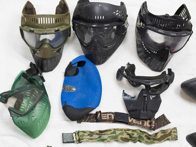 Close up on a few masks that were added to inventory.