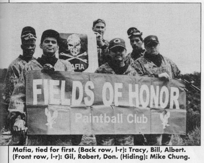 Gilbert Martinez and his Mafia crew, posing after a win at Fields of Honor.
