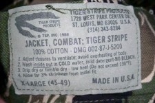 Chuck Link's Vintage Tiger Stripe Products and Pursuit Products Camouflage