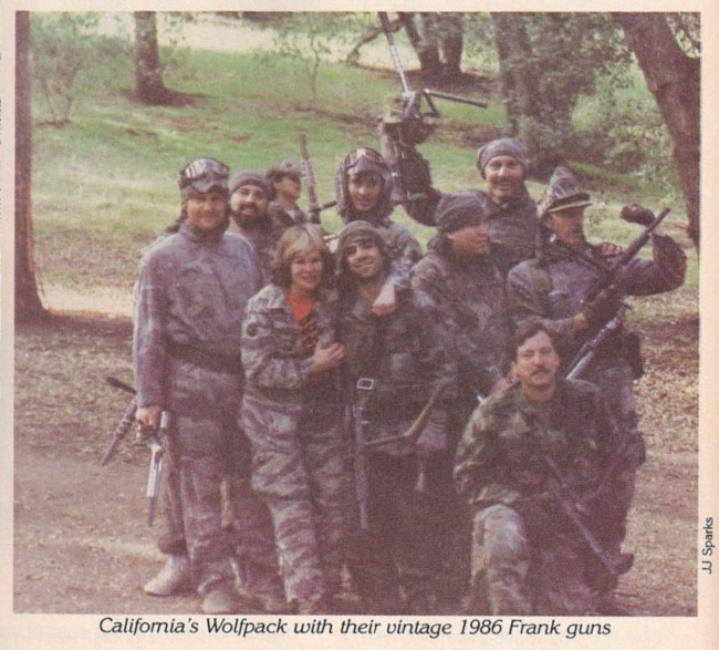 """California Wolf Pack with their 1986 Frank Postle """"Frank Guns."""""""