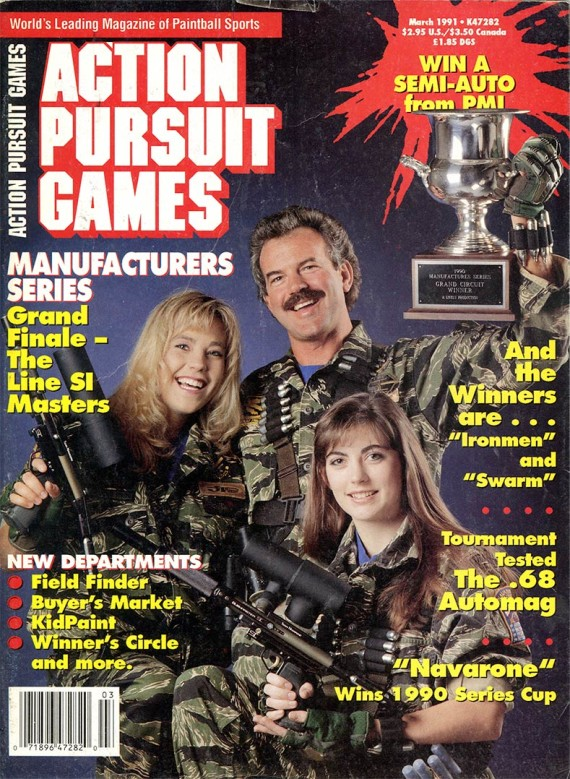 Cover of the January 1990 Action Pursuit Games.