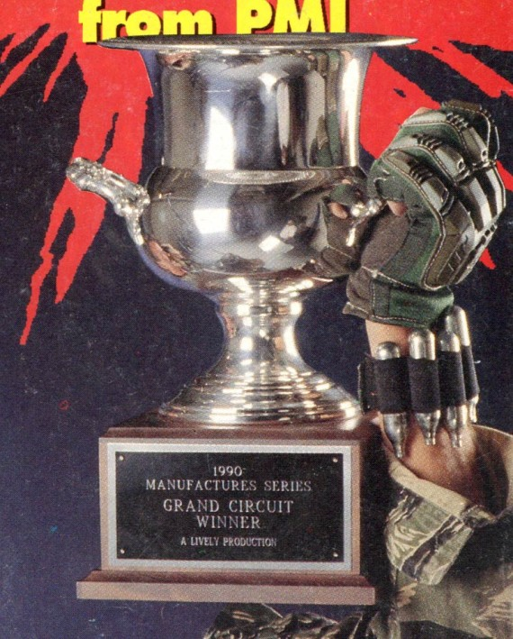 Manufacturer Series Circuit Winner Trophy on the cover of the January 1991 APG.