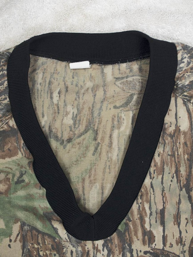 V Neck on genuine Pursuit Products Realtree pullover.