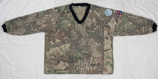Front view of Chuck Links' Pursuit Products Realtree® pullover.