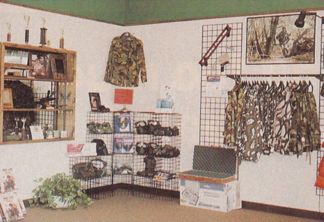 An enlarged photo of the Gramps and Grizzly store that was scanned from the December 1990 issue of Paintcheck Magazine.