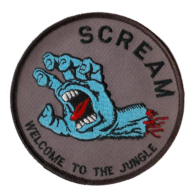 Scream patch, c. 1989-91, from the collection of Michael Karman.