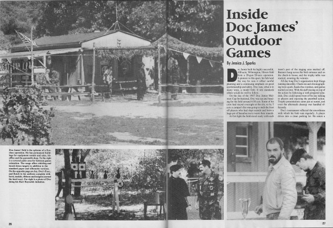 Jessica Sparks February 1988 Action Pursuit Games article on Doc James Outdoor Games. Pages 1 and 2.