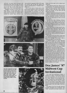 Page 3 of Jessica Sparks February 1988 Action Pursuit Games article on Doc James Outdoor Games.