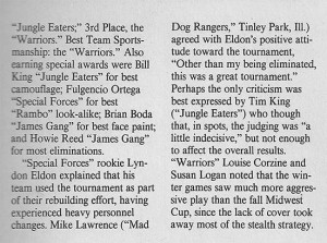 Doc James 1987 Winter Sports Contest Article by Jessica Sparks, page 2. Scanned from the May 1988 issue of Action Pursuit Games.