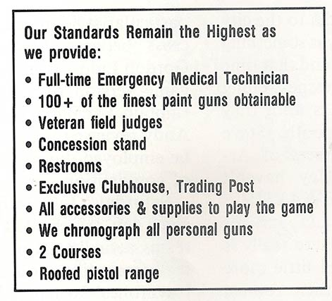 Features of Doc James' field. Scanned from the September 1987 issue of Front Line magazine.