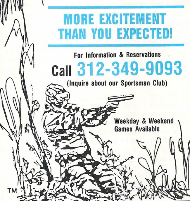 Front Line 1987 advertisement scan crop. Scanned from the September 1987 issue of Front Line magazine.