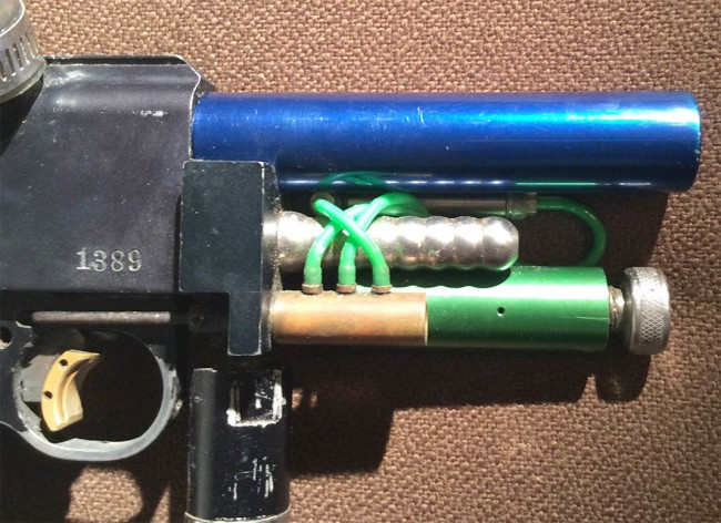 Serial 1389 and stock Blue Minicocker barrel.