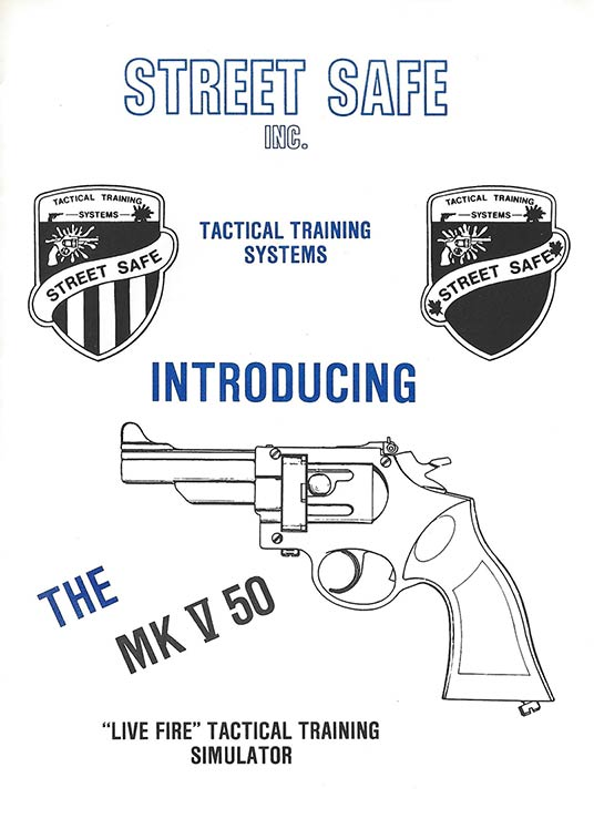 Tactical Training Systems - Law Enforcement Agency pamphlet cover.