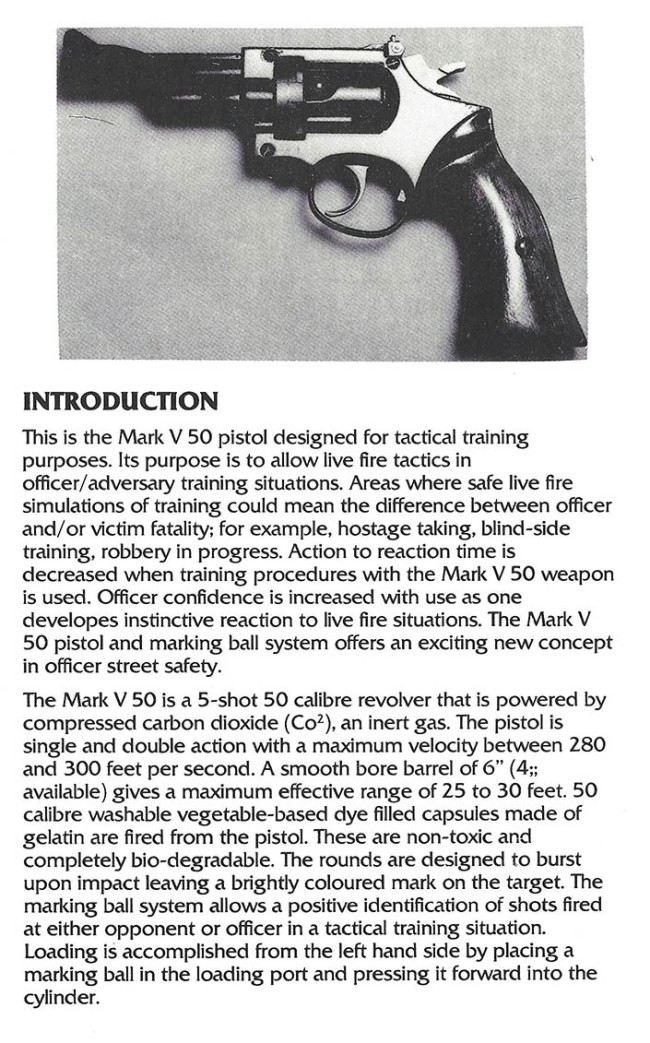 Tactical Training Systems - Law Enforcement Agency pamphlet MK-V-50-intro.