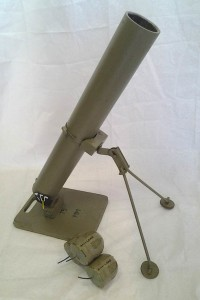 Mortar system developed and used by Joe Survival for launching Smoke and paint devices.