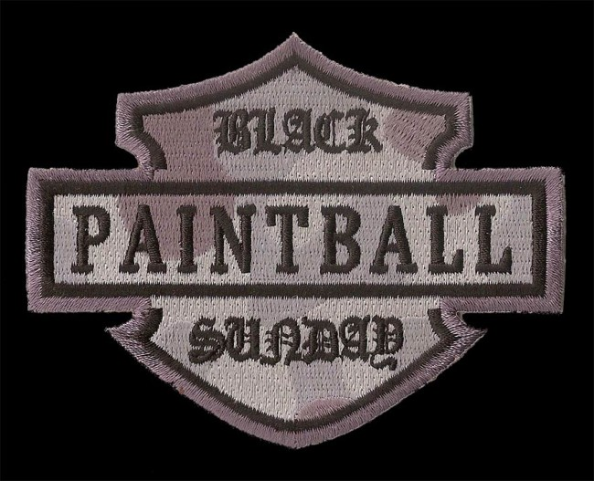 Modern Black Sunday Paintball patch.